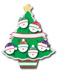 WA114 + WA312 (6): Christmas Tree + (6) Snowfaces