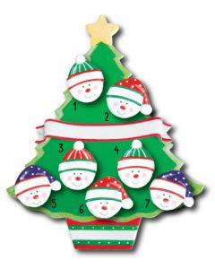WA114 + WA312 (7): Christmas Tree + (7) Snowfaces
