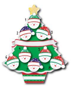 WA114 + WA312 (8): Christmas Tree + (8) Snowfaces