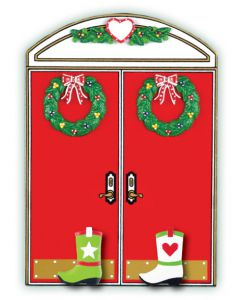 WA405 + WA210 (2): Christmas Double Doors + (2) Cowboy Boots